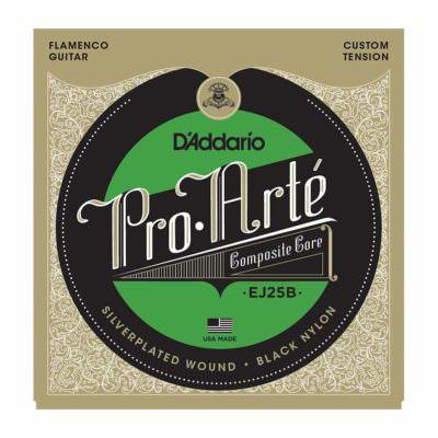 מיתרים לגיטרה קלאסית - Daddario EJ25B Pro-Arté Black Nylon Composite Flamenco