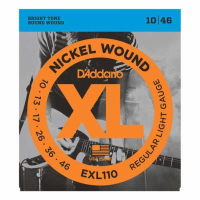 מיתרים לגיטרה חשמלית דדריו - 10-46 - Daddario EXL110 Nickel Wound