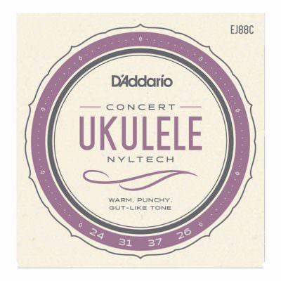 מיתרים ליוקללה דדריו - Daddario EJ88C Nyltech Ukulele Concert