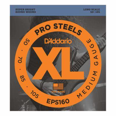 מיתרים לגיטרה בס דדריו - 50-105 - Daddario EPS160 Prosteels Bass Long Scale