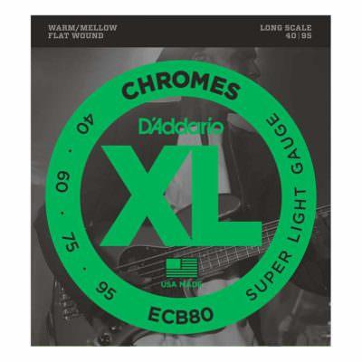 מיתרים לגיטרה בס דדריו - 40-95 - Daddario ECB80 Chrome Bass Long Scale