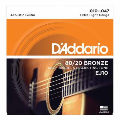 מיתרים לגיטרה אקוסטית דדריו – 10-47