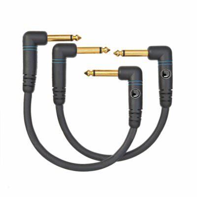 זוג כבלים לאפקטים 0.15m דדריו - Daddario PW-PRA-205 Planet Waves 2pack - 0.5