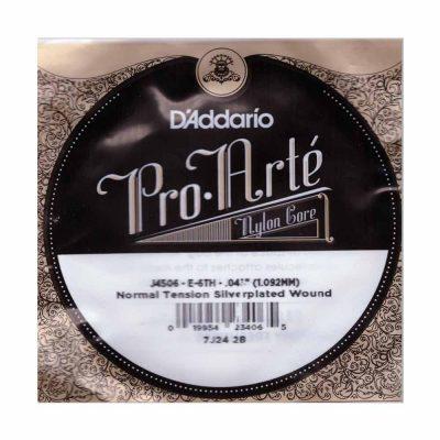 מיתר בודד E-6 ( שישי ) לגיטרה קלאסית דדריו - Daddario Silver Single - 043