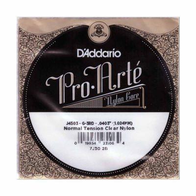מיתר בודד G-3 ( שלישי ) לגיטרה קלאסית דדריו - Daddario Nylon Single - 0403