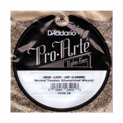 מיתר בודד A-5 ( חמישי ) לגיטרה קלאסית דדריו - Daddario Silver Single - 035