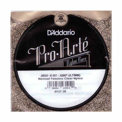 מיתר בודד E-1 ( ראשון ) לגיטרה קלאסית דדריו - Daddario Nylon Single - 028