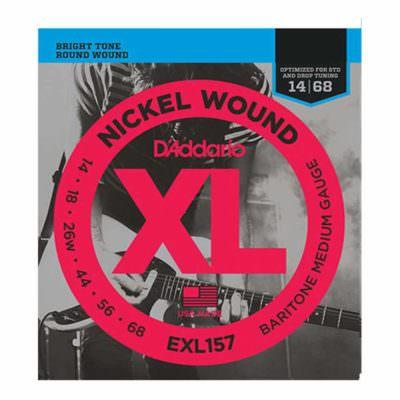 מיתרים לגיטרה חשמלית דדריו - 14-68 - Daddario EXL157 Nickel Wound Baritone