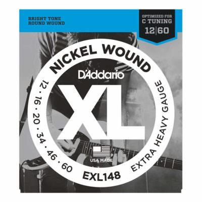 מיתרים לגיטרה חשמלית דדריו - 12-60 - Daddario EXL148 Nickel Wound
