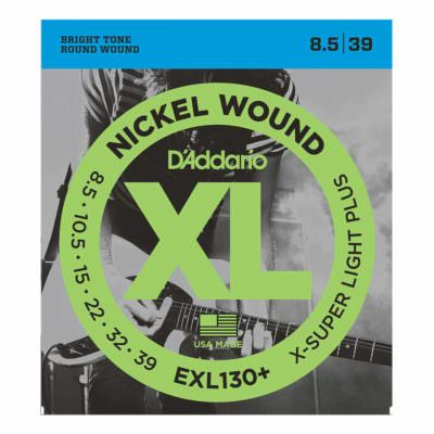 מיתרים לגיטרה חשמלית דדריו - 8.5-39 - Daddario EXL130+ Nickel Wound