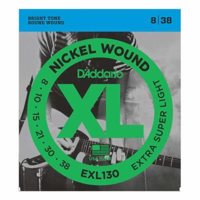 מיתרים לגיטרה חשמלית דדריו - 8-38 - Daddario EXL130 Nickel Wound