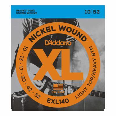 מיתרים לגיטרה חשמלית דדריו - 10-52 - Daddario EXL140 Nickel Wound