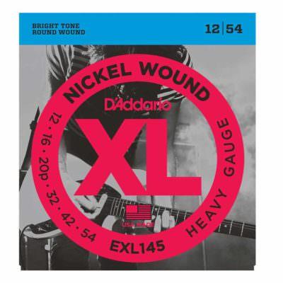 מיתרים לגיטרה חשמלית דדריו - 12-54 - Daddario EXL145 Nickel Wound