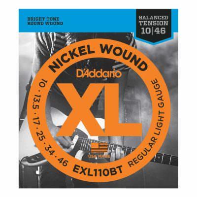 מיתרים לגיטרה חשמלית דדריו - 10-46 - Daddario EXL110BT Nickel Wound Balanced Tension