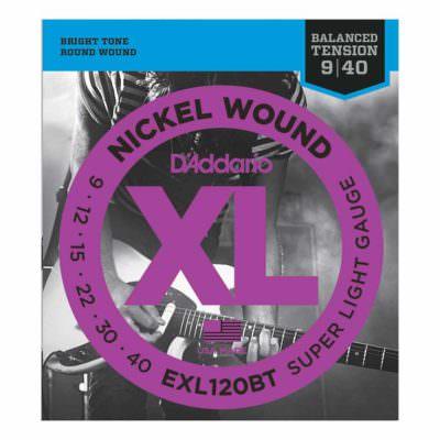 מיתרים לגיטרה חשמלית דדריו - 9-40 - Daddario EXL120BT Nickel Wound Balanced Tension