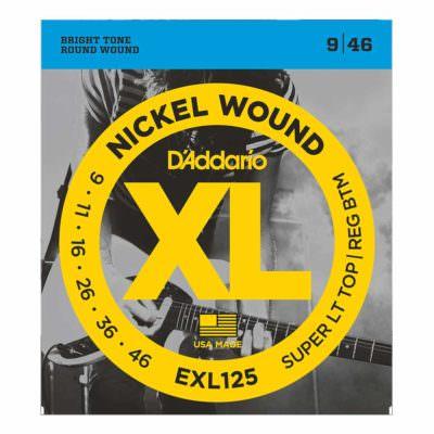 מיתרים לגיטרה חשמלית דדריו - 9-46 - Daddario EXL125 Nickel Wound