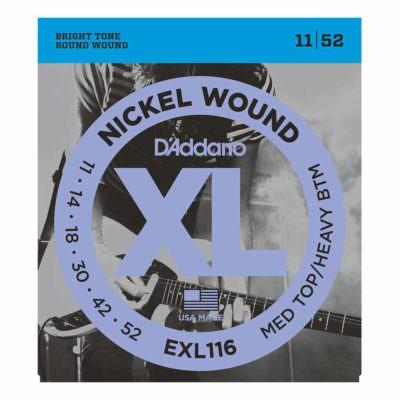 מיתרים לגיטרה חשמלית דדריו - 11-52 - Daddario EXL116 Nickel Wound