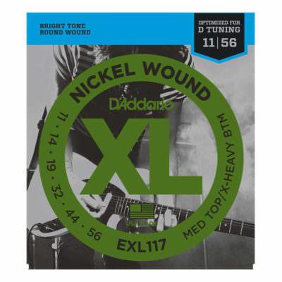 מיתרים לגיטרה חשמלית דדריו - 11-56 - Daddario EXL117 Nickel Wound
