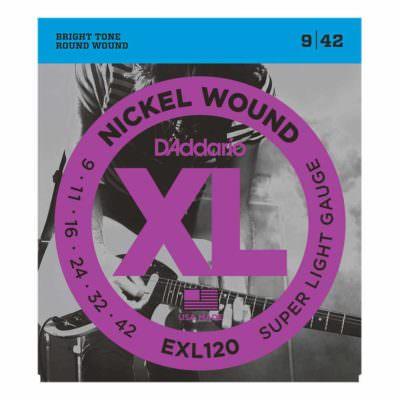 מיתרים לגיטרה חשמלית דדריו - 9-42 - Daddario EXL120 Nickel Wound