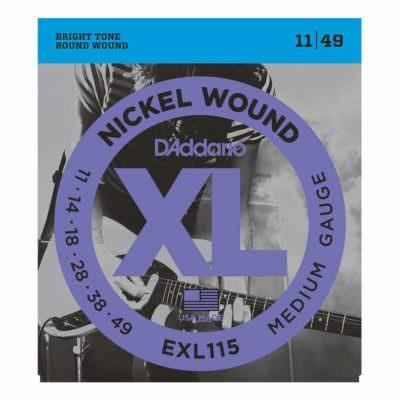 מיתרים לגיטרה חשמלית דדריו - 11-49 - Daddario EXL115 Nickel Wound