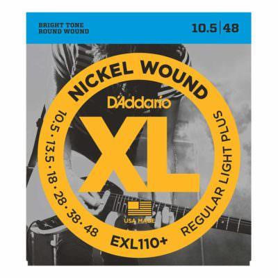 מיתרים לגיטרה חשמלית דדריו - 10.5-48 - Daddario EXL110+ Nickel Wound
