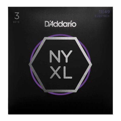 סט 3 מיתרים לגיטרה חשמלית דדריו - 11-49 - Daddario NYXL1149-3P Nickel Wound 3Pack