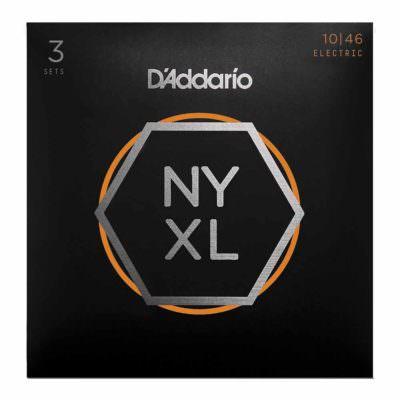 סט 3 מיתרים לגיטרה חשמלית דדריו - 10-46 - Daddario NYXL1046-3P Nickel Wound 3Pack
