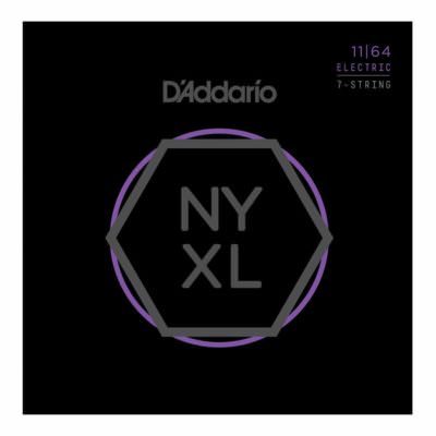מיתרים לגיטרה 7 חשמלית דדריו - 11-64 - Daddario NYXL1164 Nickel Wound 7 String Electric Guitar Strings
