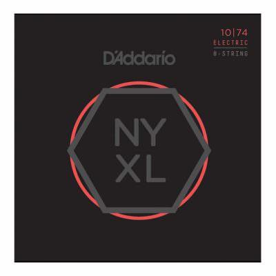 מיתרים לגיטרה 8 חשמלית דדריו - 10-74 - Daddario NYX1074 Nickel Wound 8 String Electric Guitar Strings