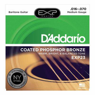 מיתרים לגיטרה אקוסטית דדריו - 16-70 - Daddario EXP23 Coated Phosphor Bronze Guitar Strings