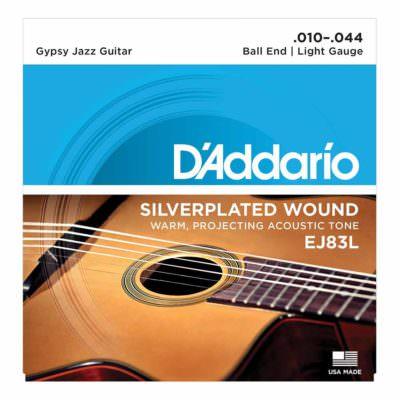 מיתרים לגיטרה אקוסטית דדריו - 11-47 - Daddario EJ40 Silk & Steel Guitar Strings
