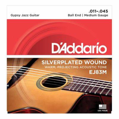 מיתרים לגיטרה אקוסטית דדריו - 11-45 - Daddario EJ83M Gypsy Jazz Guitar Strings