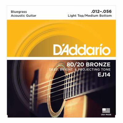 מיתרים לגיטרה אקוסטית דדריו - 11-52 - Daddario EJ13 80/20 Bronze Acoustic Guitar Strings