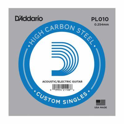 מיתר בודד לגיטרה דדריו - Daddario Plain Steel Single - 010