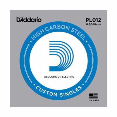 מיתר בודד לגיטרה דדריו - Daddario Plain Steel Single - 012