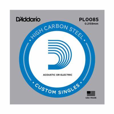 מיתר בודד לגיטרה דדריו - Daddario Plain Steel Single - 0085