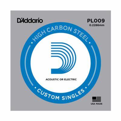 מיתר בודד לגיטרה דדריו - Daddario PL009 Plain Steel Single - 009