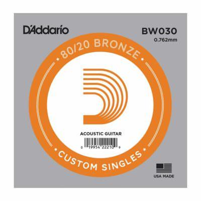 מיתר בודד לגיטרה אקוסטית דדריו - Daddario 80/20 Bronze Wound Single - 030