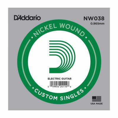 מיתר בודד לגיטרה חשמלית דדריו - Daddario Single Nickel Wound - 038