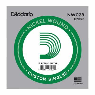 מיתר בודד לגיטרה חשמלית דדריו - Daddario Single Nickel Wound - 028