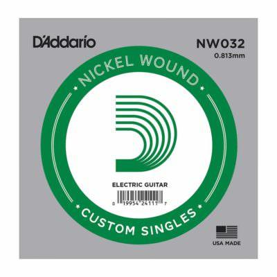 מיתר בודד לגיטרה חשמלית דדריו - Daddario Single Nickel Wound - 032