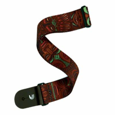 רצועה לגיטרה מסכות אפריקניות דדריו - Daddario P20W1507 Planet Waves Strap, African Masks Red/Green