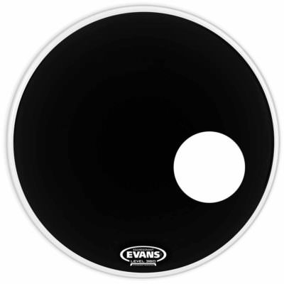"""עור חיצוני לתוף בס אוונס - """"Evans BD24RB EQ3 Resonant 24 Smooth Black"""