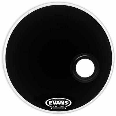 """עור חיצוני לתוף בס אוונס - """"Evans BD24REMAD EMAD Resonant Black 24"""