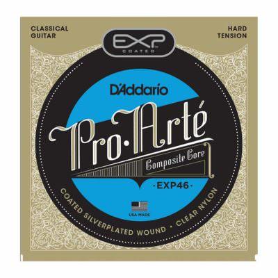 מיתרים לגיטרה קלאסית דדריו - Daddario EXP46 Coated Hard Tension