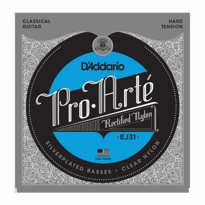 סט מיתרים לגיטרה קלאסית דדריו - Daddario EJ31 Pro-Arté Rectified Hard Tension