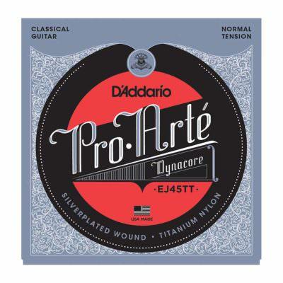 מיתרים לגיטרה קלאסית דדריו - Daddario EJ45TT Pro-Arté Dynacore Normal Tension