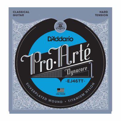 מיתרים לגיטרה קלאסית דדריו - Daddario EJ46TT Pro-Arté Dynacore Hard Tension