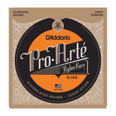 מיתרים לגיטרה קלאסית דדריו - Daddario EJ43 Pro-Arté Nylon Light Tension