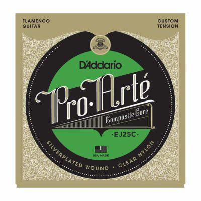 מיתרים לגיטרה קלאסית - Daddario EJ25C Pro-Arté Clear Nylon Composite Flamenco